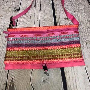 Pink Lesportsac Crossbody Fold Over Bag